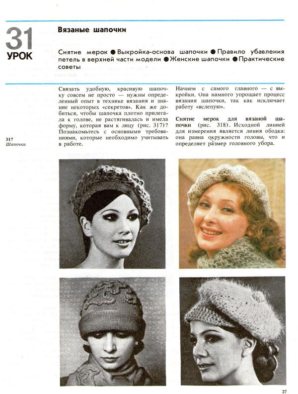 Вязание мерки на шапку